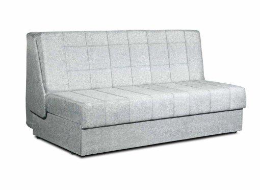 Canapé convertible 3 places en tissu gris design DUBLIN