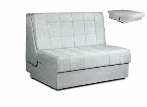 Canapé convertible 2 places en tissu gris design DUBLIN