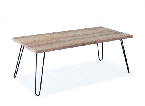 Table basse en bois pieds en métal RETRO