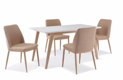 Table + 4 chaises scandinave YETA