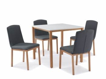 Table carrée + 4 chaises scandinave