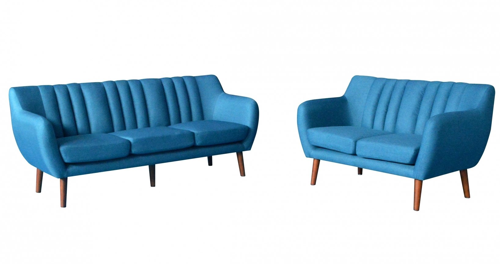 Ensemble canapé scandinave 3+2 places bleu SOREN