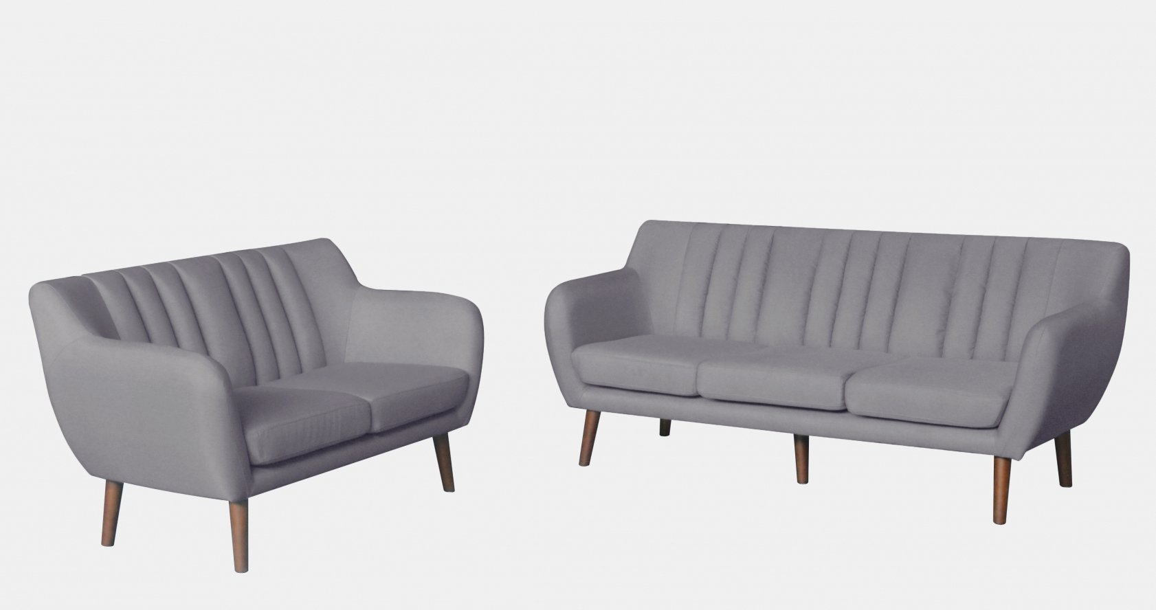 Ensemble canapé scandinave 3+2 places gris SOREN