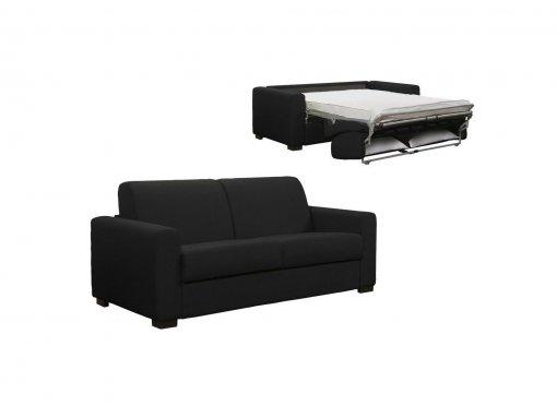 Canapé convertible 3 places LOUNA en tissu gris carbon ouverture express
