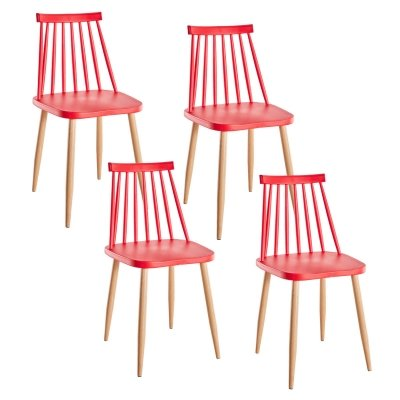 Lot de 4 chaises scandinaves rouge BERTA