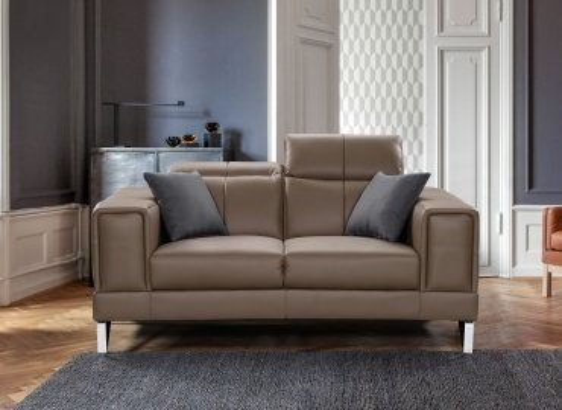 Canapé design 2 places beige taupe PENELOPE
