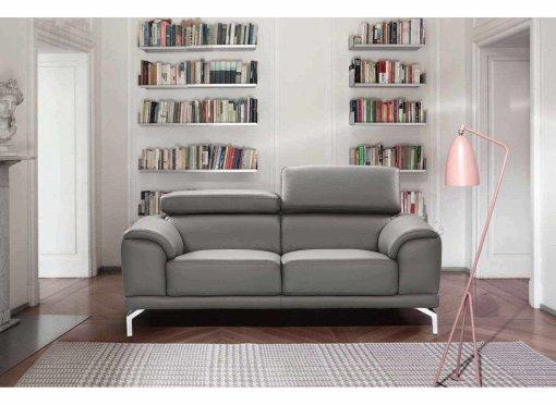 Canapé design contemporain gris 2 places BRITTA