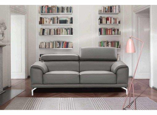 Canapé design contemporain gris 3 places BRITTA