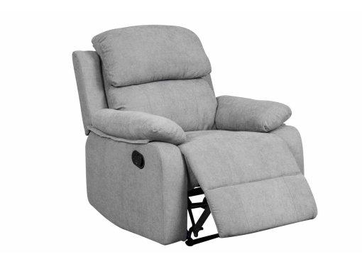 Fauteuil relax en tissu gris KEATON