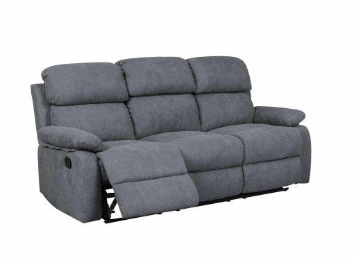Canapé relax 3 places en tissu gris foncé KEATON