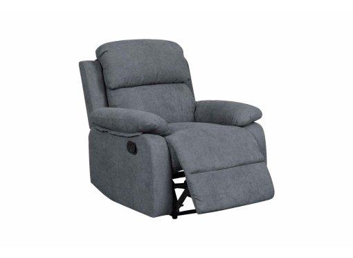 Fauteuil relax en tissu gris foncé KEATON