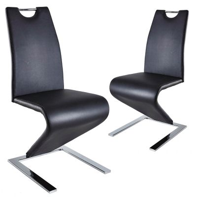 Lot de 2 chaises design noir ZAYA