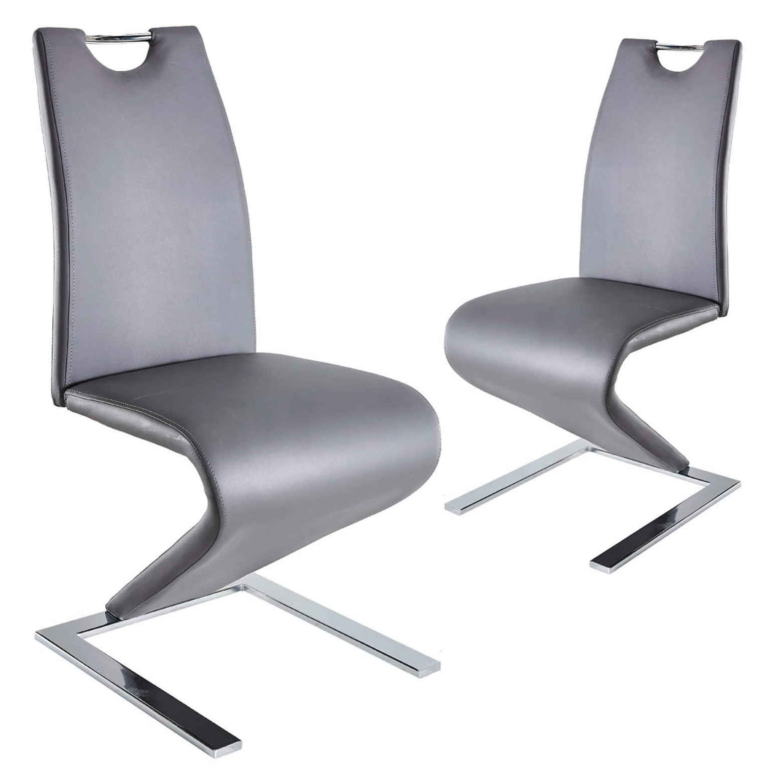 Lot de 2 chaises design gris ZAYA