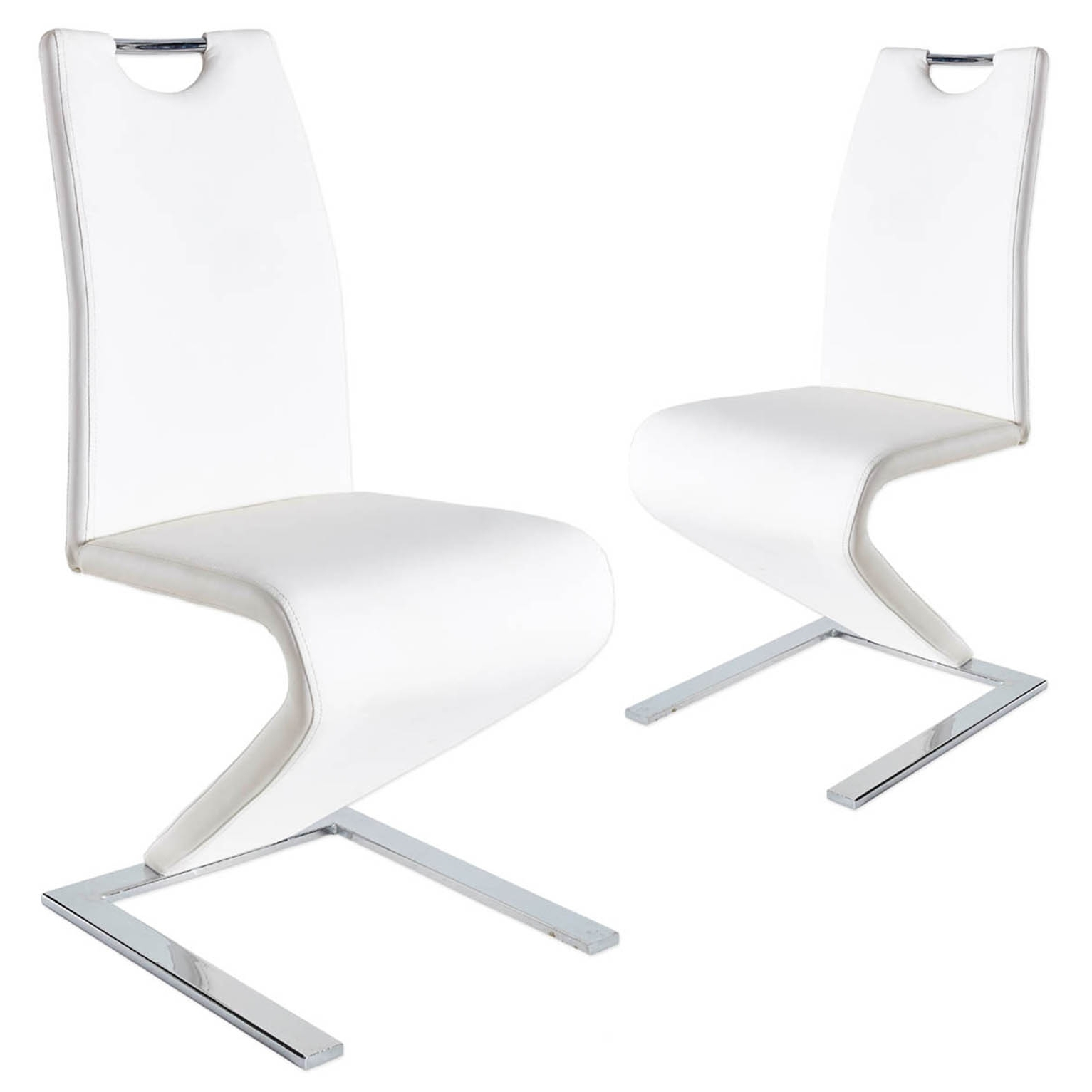 Lot de 2 chaises design blanc ZAYA