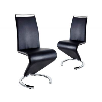 Lot de 2 chaises design noir RENA