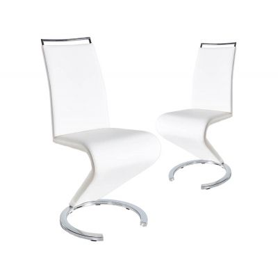 Lot de 2 chaises design blanc RENA