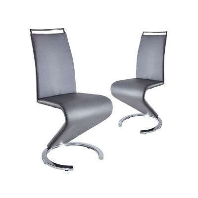 Lot de 2 chaises design gris RENA