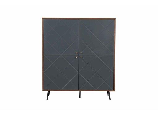 Buffet haut scandinave gris 4 portes ARTY