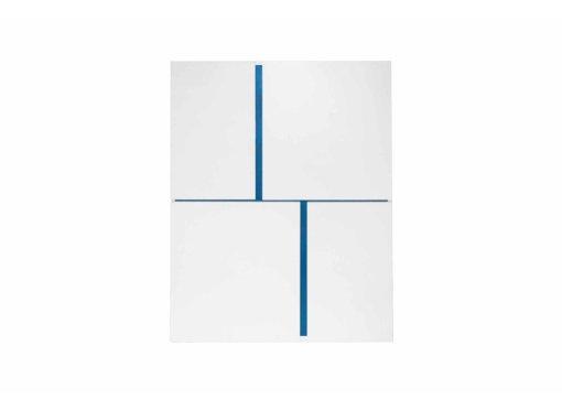 Buffet haut design 4 portes blanc et bleu AZUR