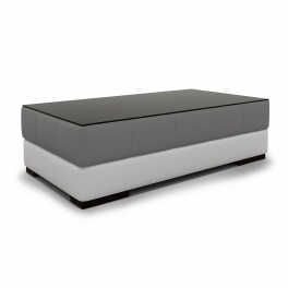 Table basse rectangle gris et banc LILA