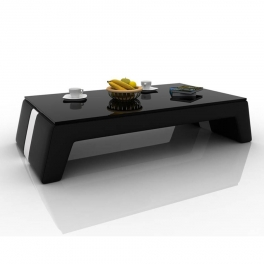Table basse design noir et blanc TALY