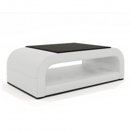 Table basse design blanche NELLY