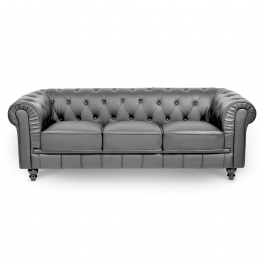 Canapé 3 places gris CHESTERFIELD
