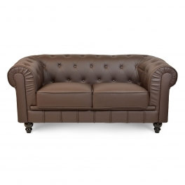 Canapé 2 places Marron CHESTERFIELD