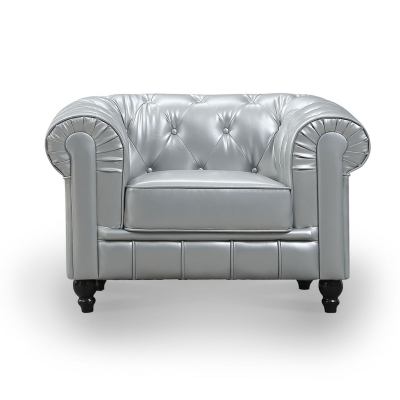 Fauteuil Argent CHESTERFIELD