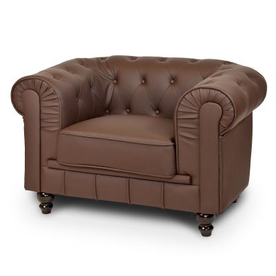 Fauteuil Marron CHESTERFIELD