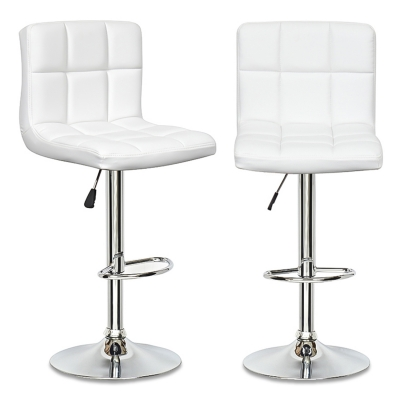 Lot de 2 tabourets de bar blanc SCALO