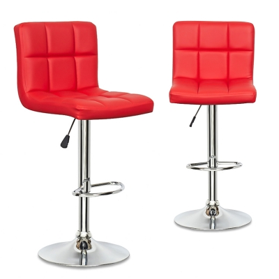 Lot de 2 tabourets de bar rouge SCALO