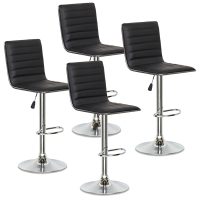 Lot de 4 tabourets de bar noir LOCAS
