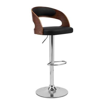Tabouret de bar design marron et noir KENT
