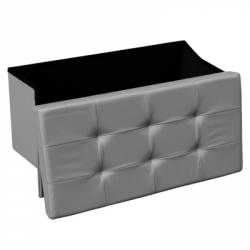 Banquette coffre rectangle pliable gris STEVEN