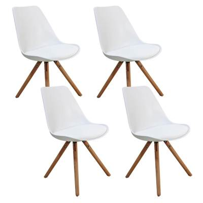 Lot de 4 chaises design blanc VELTA