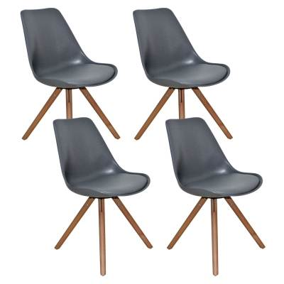 Lot de 4 chaises design gris VELTA