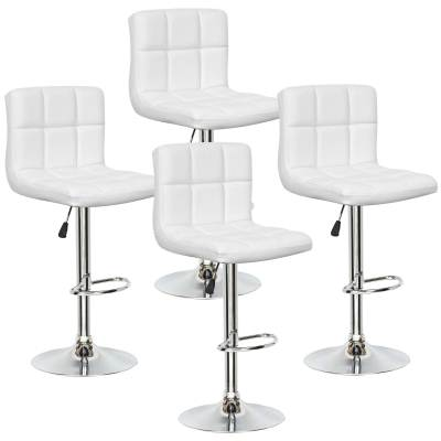 Lot de 4 tabourets de bar blanc SCALO