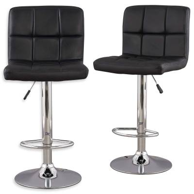 Lot de 2 tabourets de bar noir SCALO