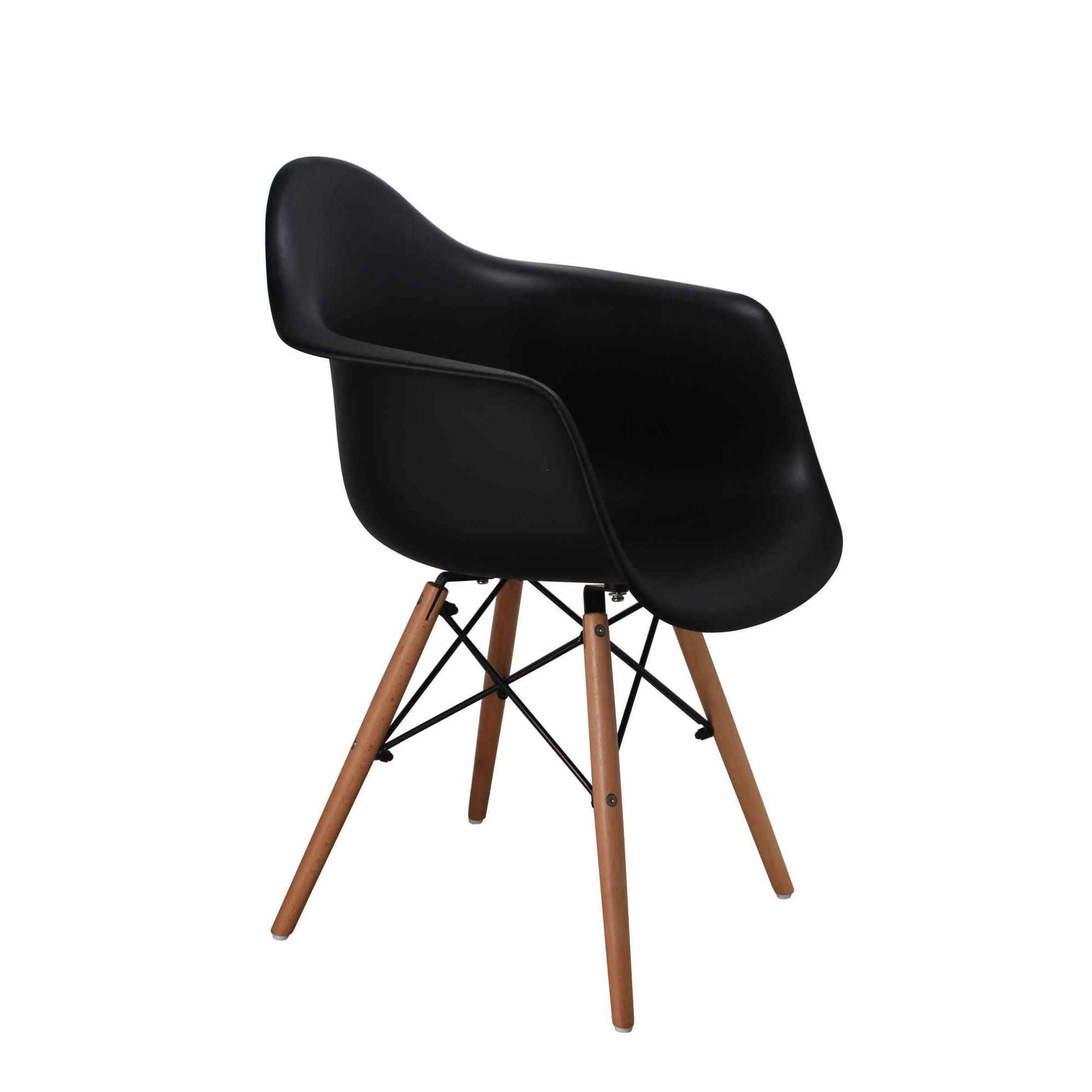 deco in paris 8 lot de 4 chaises scandinaves noires avec accoudoirs nina ninaaccourdoirs x4 noir. Black Bedroom Furniture Sets. Home Design Ideas