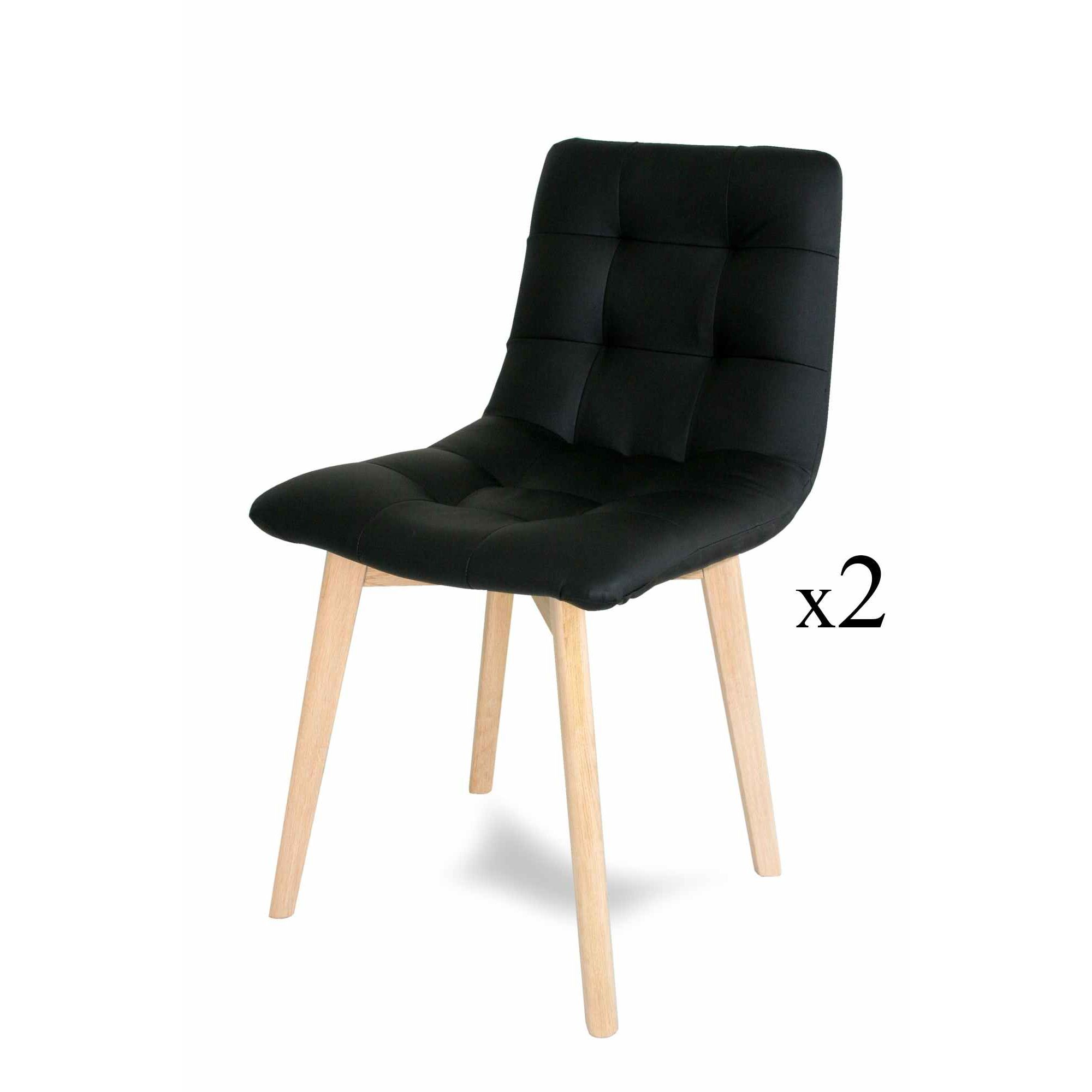 deco in paris 9 lot de 2 chaises scandinave noir fany chaise noirx2 fany. Black Bedroom Furniture Sets. Home Design Ideas