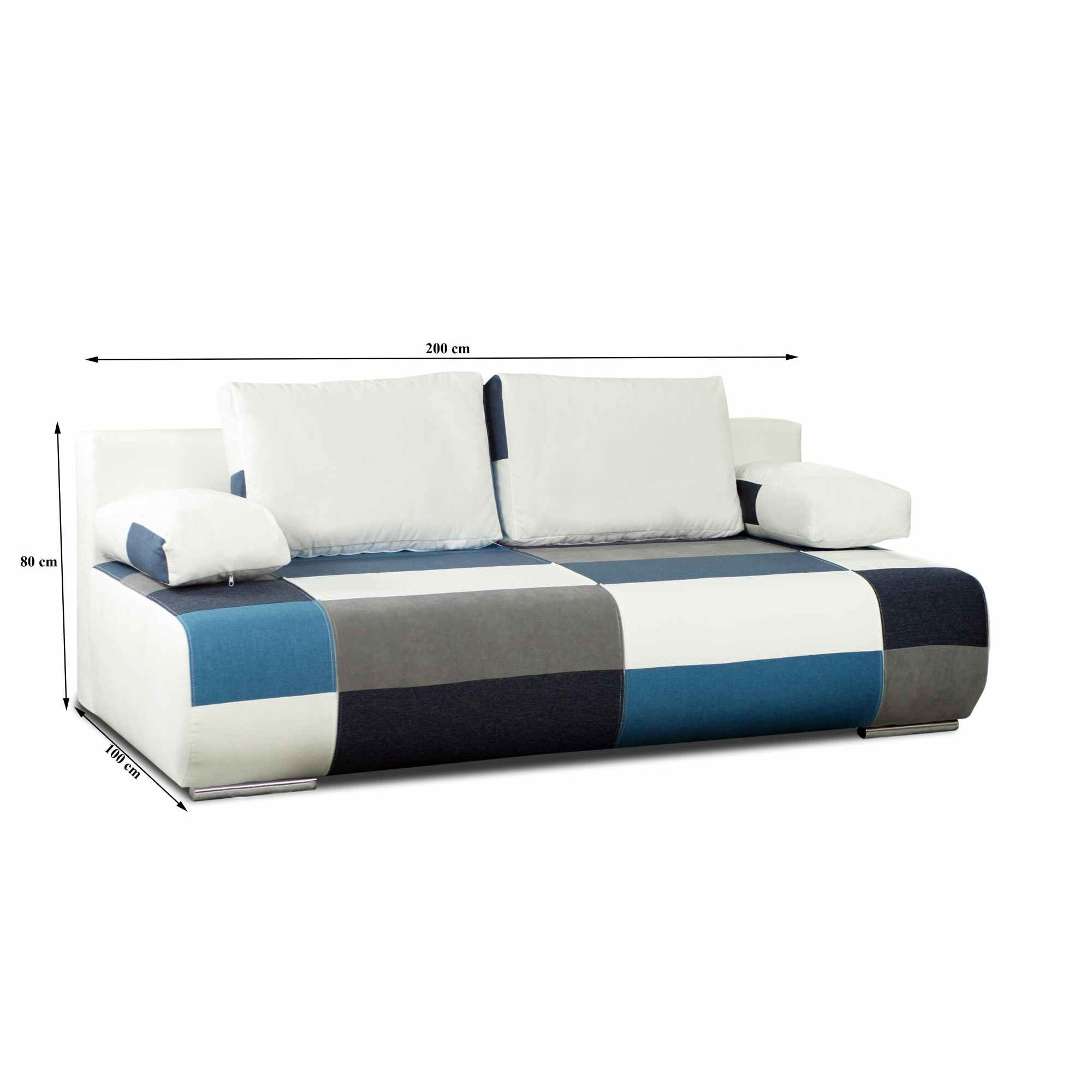Deco in paris canape 3 places convertible design en for Canape convertible en tissu