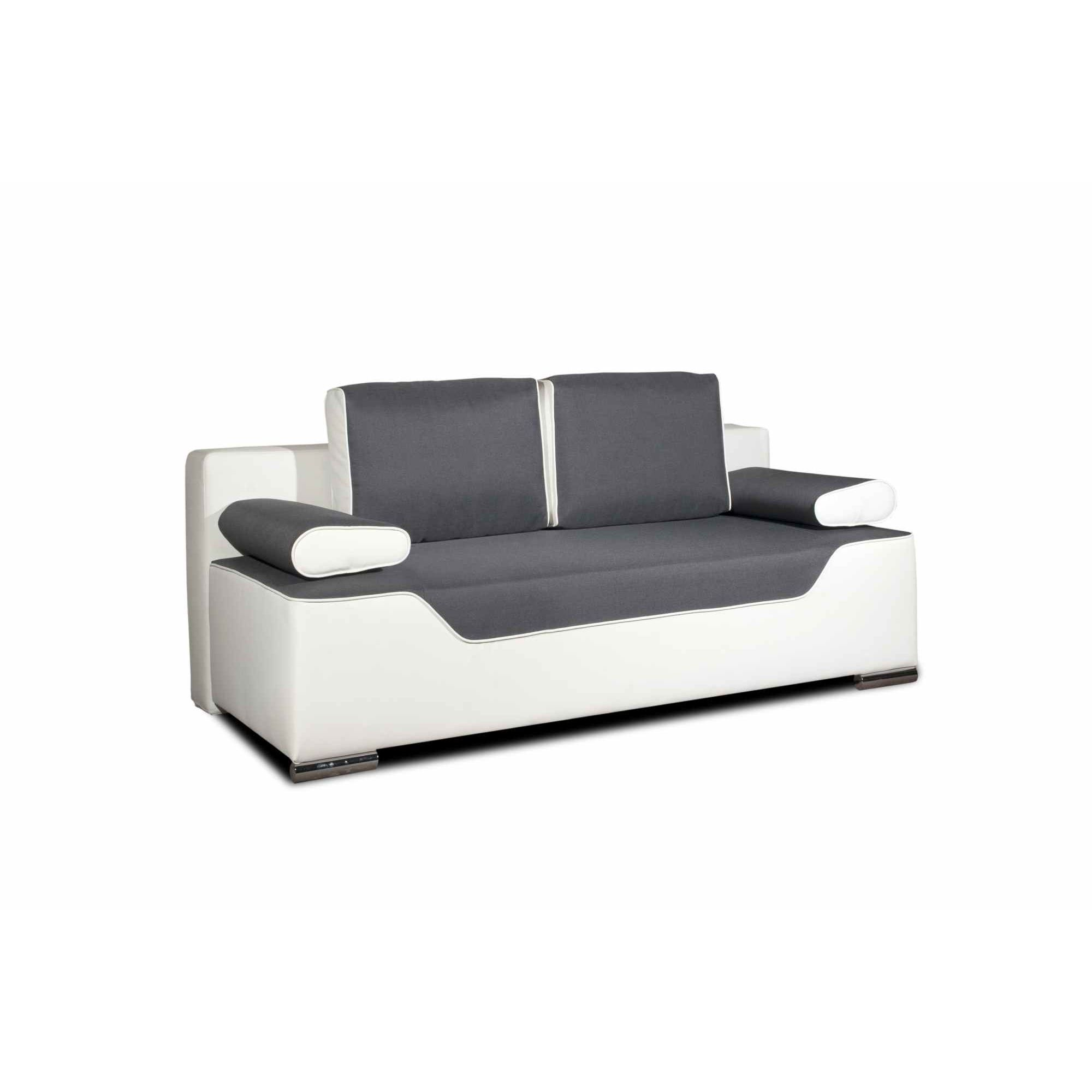 Deco in paris canape 3 places convertible gris et blanc for Canape gris et blanc