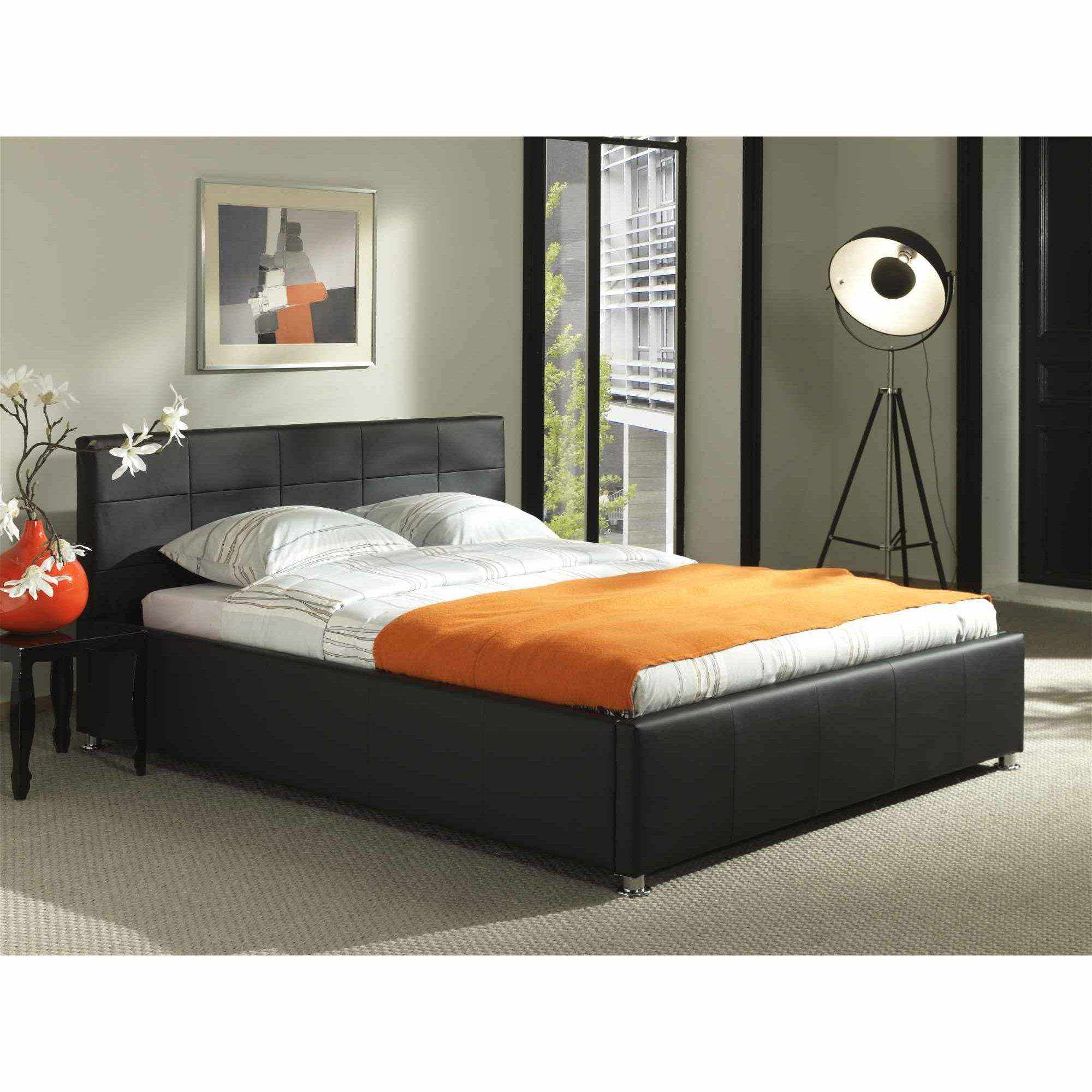 deco in paris 1 lit coffre noir sommier relevable. Black Bedroom Furniture Sets. Home Design Ideas