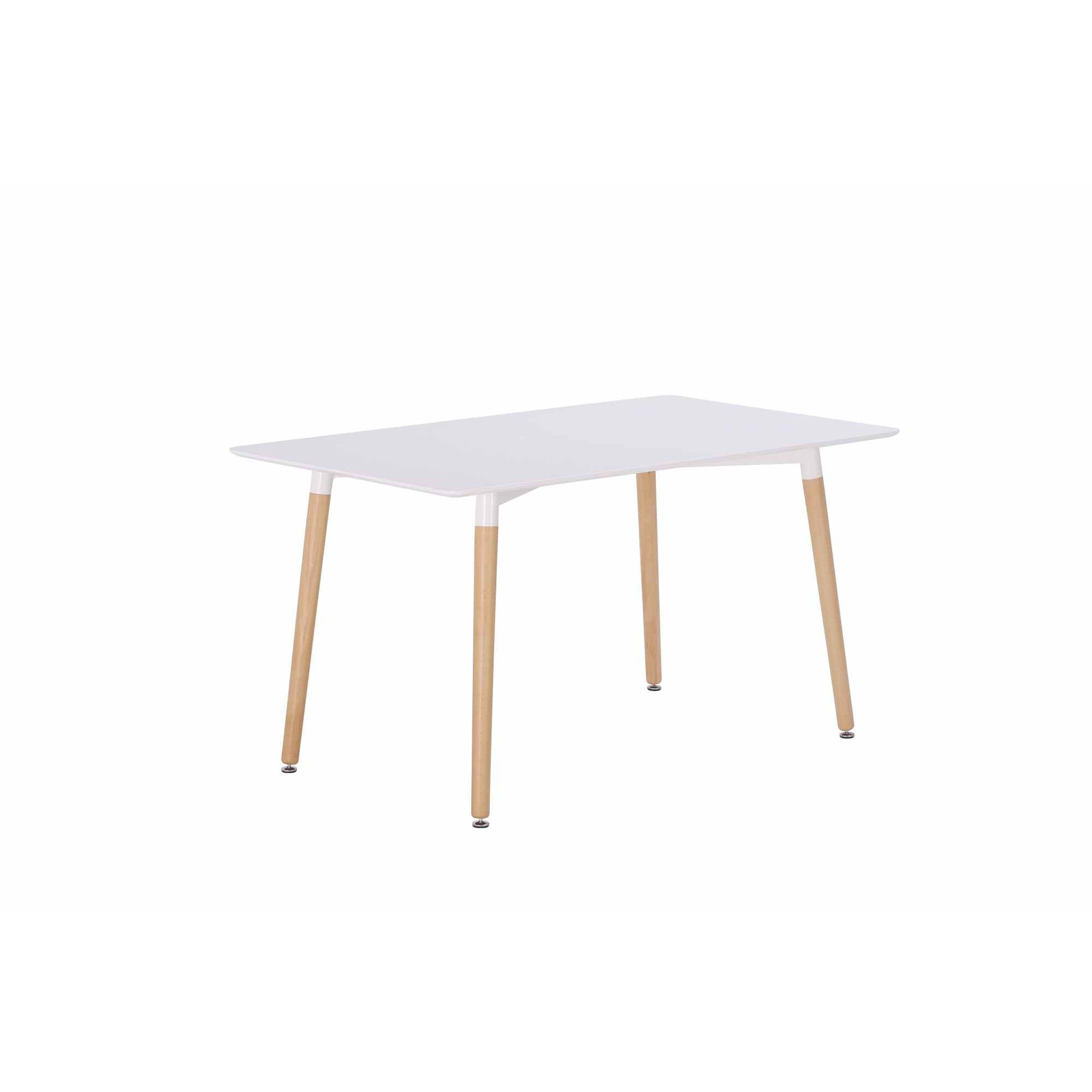 deco in paris 4 table a manger en bois laquee blanc camilia table camilia. Black Bedroom Furniture Sets. Home Design Ideas