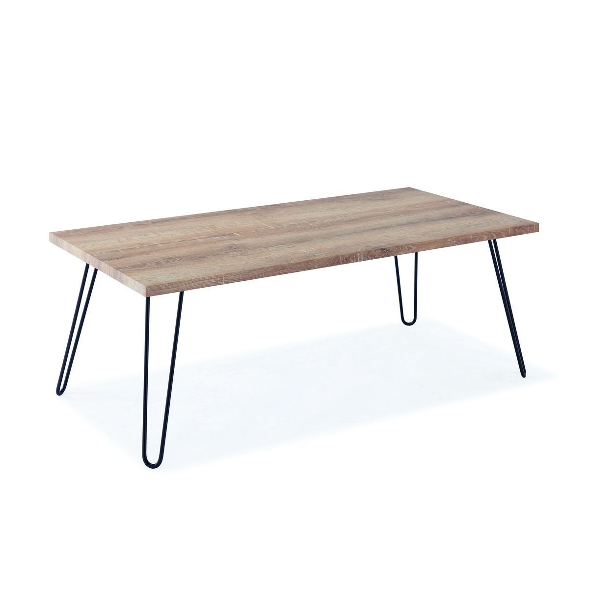 Deco in paris 7 table basse en bois pieds en metal retro - Table basse bois pied metal ...