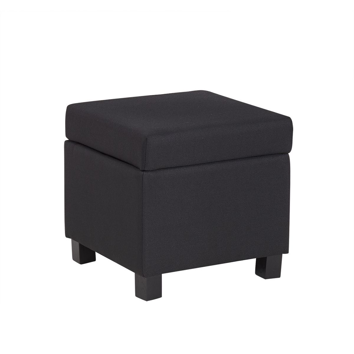 deco in paris 9 pouf coffre de rangement tissu noir pola pola pouf noir. Black Bedroom Furniture Sets. Home Design Ideas