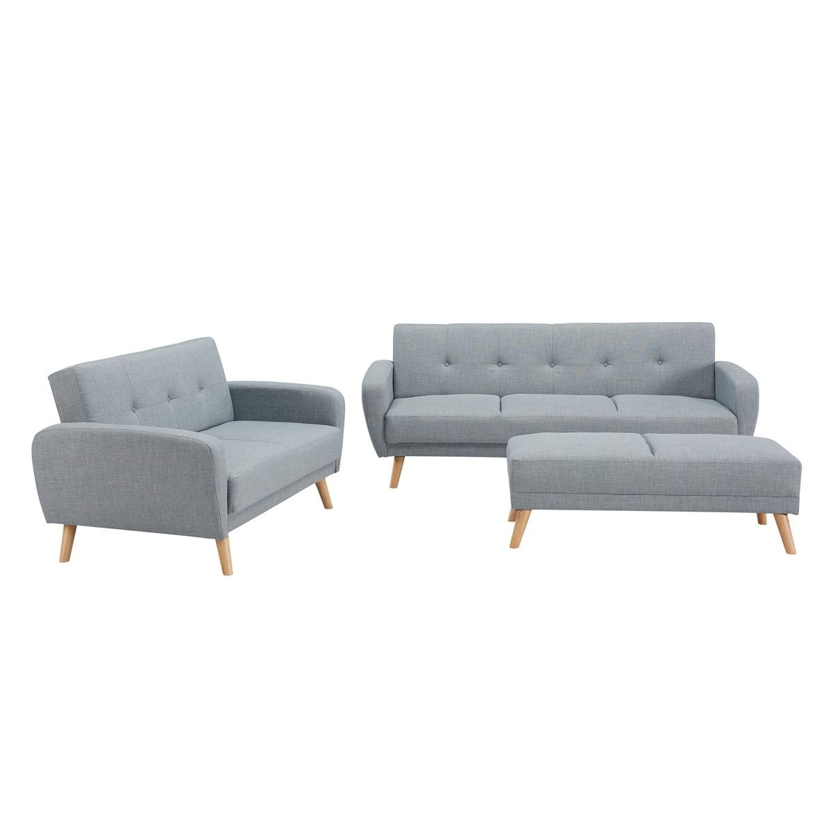 deco in paris ensemble canape convertible gris