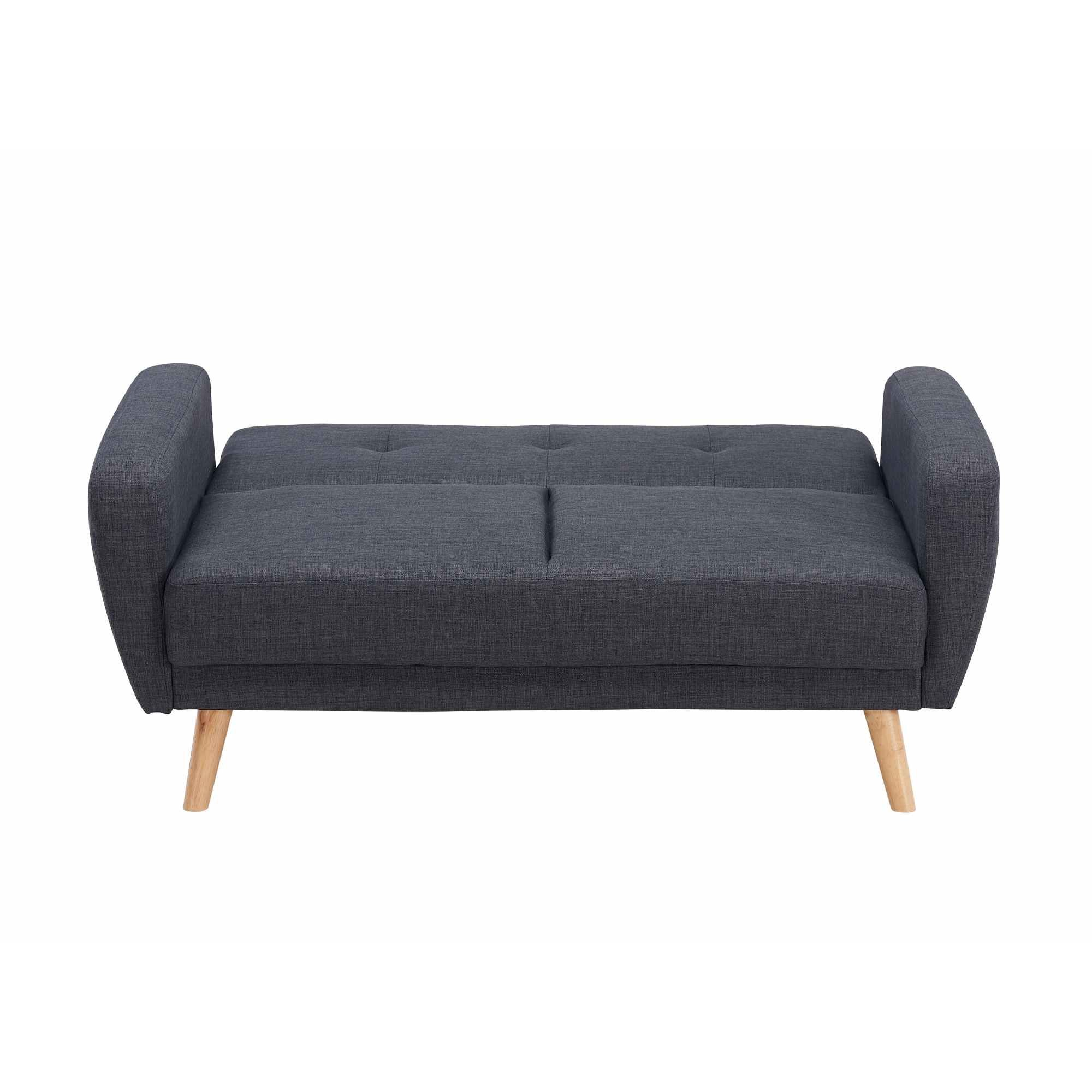 Deco in paris canape 2 places convertible scandinave for Canape 2 places gris