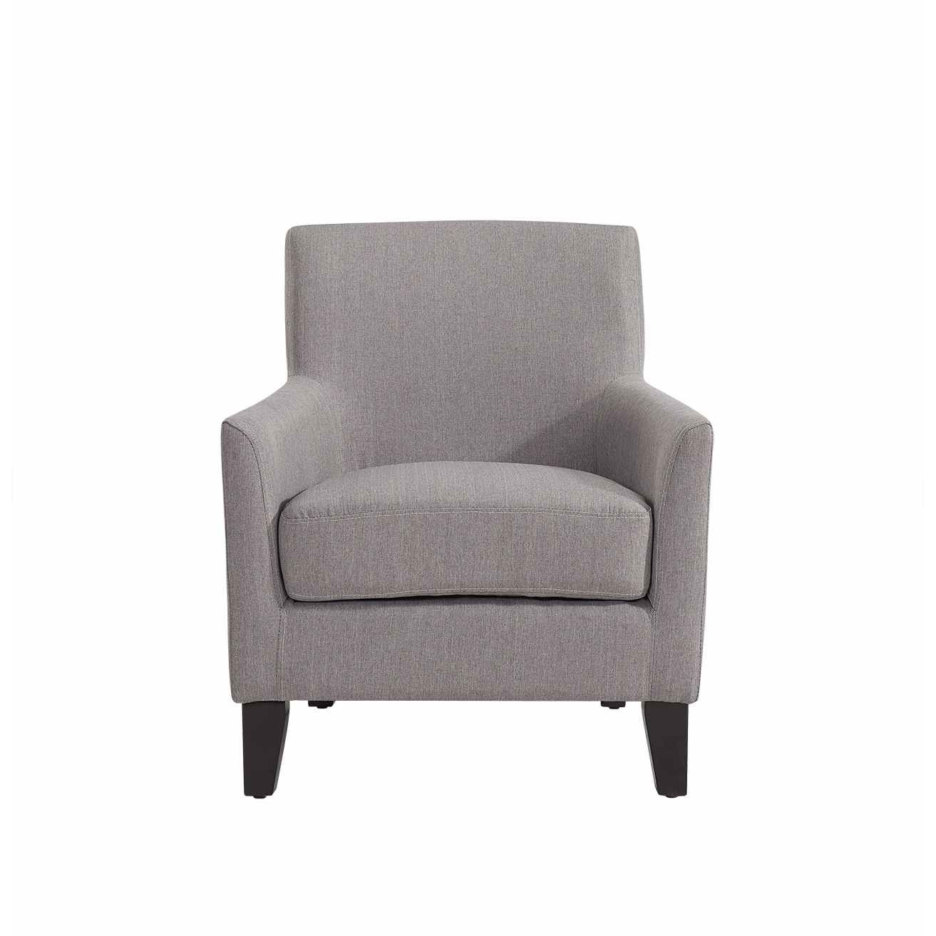 deco in paris fauteuil gris en tissu karl karl gris. Black Bedroom Furniture Sets. Home Design Ideas